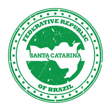 santa catarina map stamp