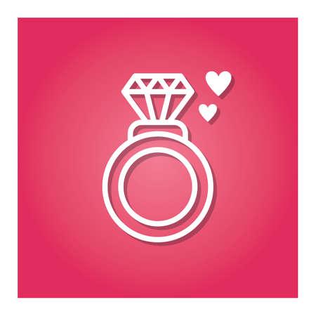 다이아몬드 반지 일러스트