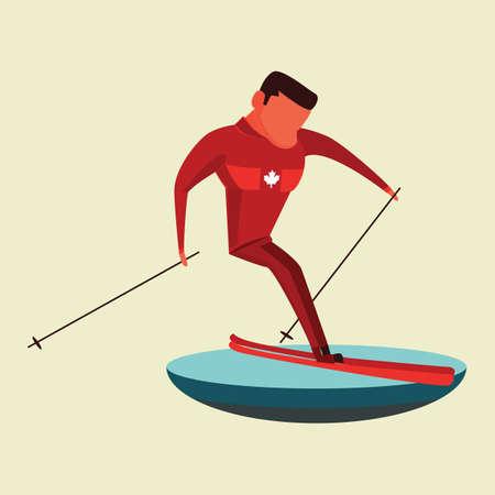 남자 스키 그림입니다. 일러스트