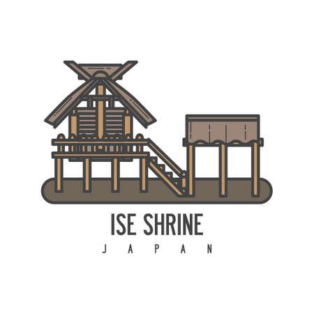 An ise shrine illustration. Ilustração