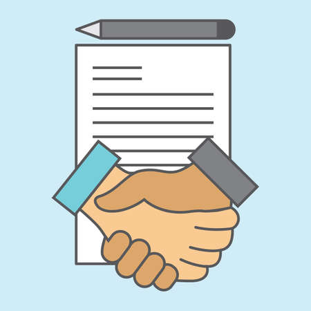 Agreement handshake Stock Illustratie