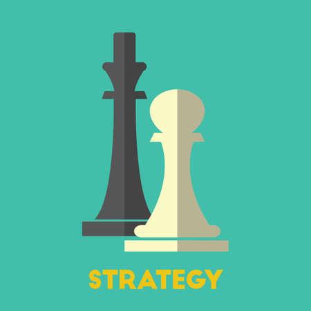 Bedrijfsstrategieconcept Stock Illustratie
