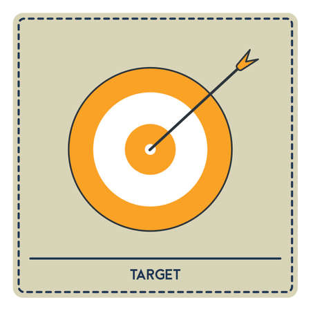 bull's eye: dartboard Illustration