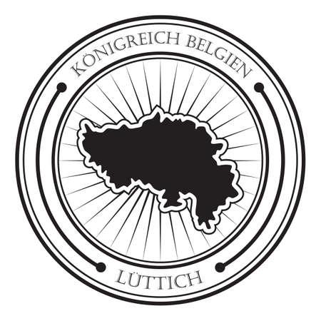 Etichetta della mappa di Luttich Archivio Fotografico - 81534787