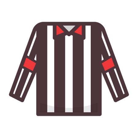 Scheidsrechter shirt Stock Illustratie