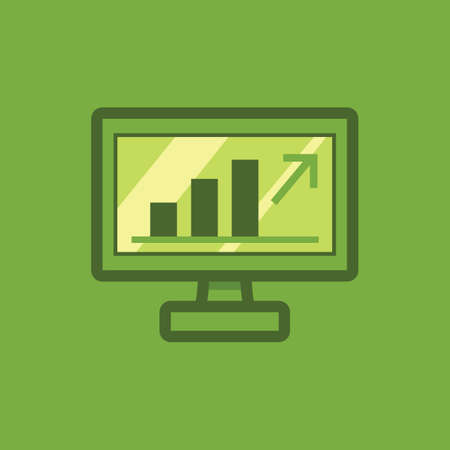 Monitor with growth statistics