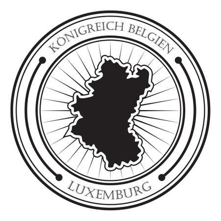 Etichetta della mappa di Lussemburgo Archivio Fotografico - 81534793