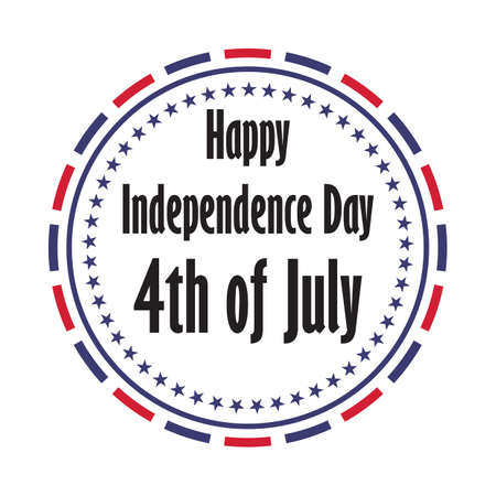 us independence day label 向量圖像