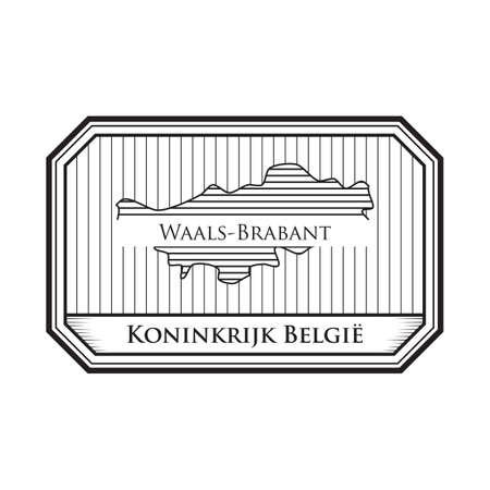 Mappa di Vlaams-Brabant Archivio Fotografico - 81534798