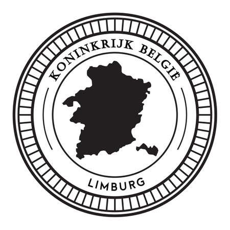 Adesivo mappa Limburgo Archivio Fotografico - 81534795