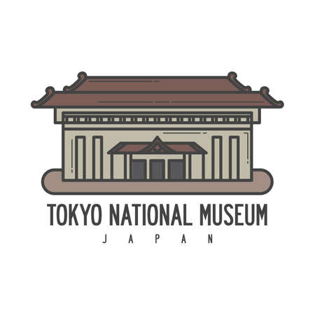 A tokyo national museum illustration. Ilustração