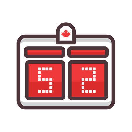 scoreboard Ilustração