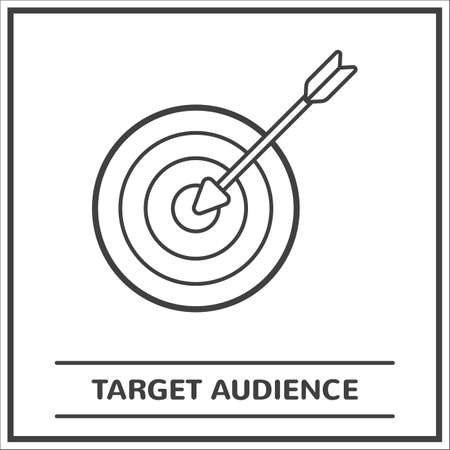 Target audience concept 向量圖像
