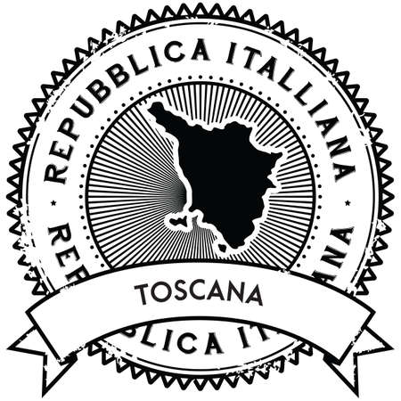 toscana map label
