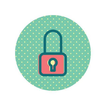 A lock icon illustration.