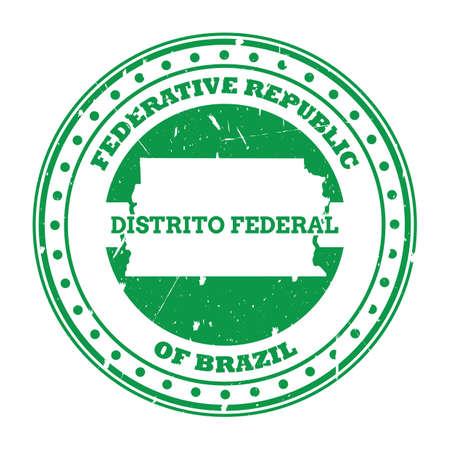 distrito federal map stamp Illusztráció