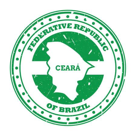 ceara map stamp