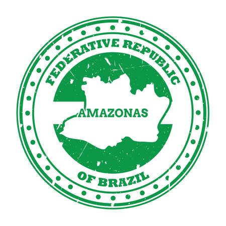 amazonas map stamp