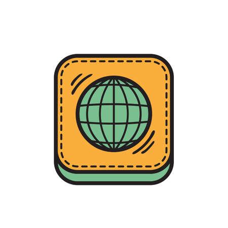 globe icon Stock Vector - 81484094
