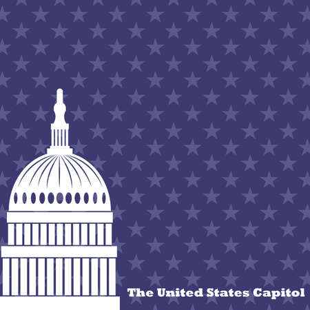 the united states capitol Stock Illustratie