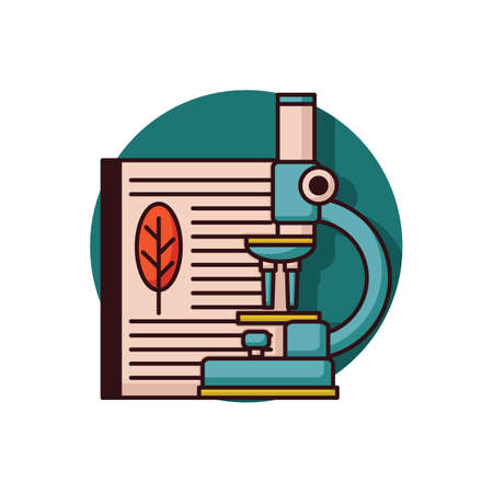 book with microscope Illustration