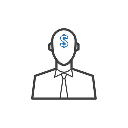 businessman with dollar symbol