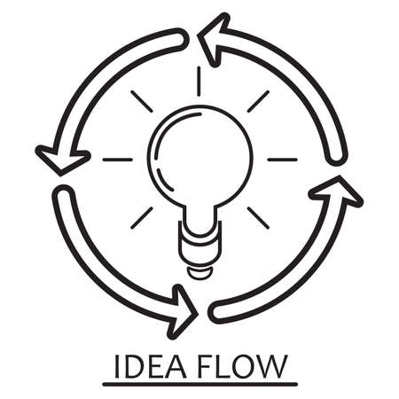 idea flow concept Illustration