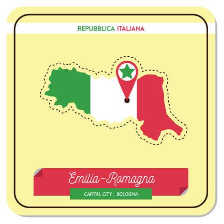 エミリア = ロマーニャ州地図
