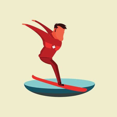 man snowboarding Illustration