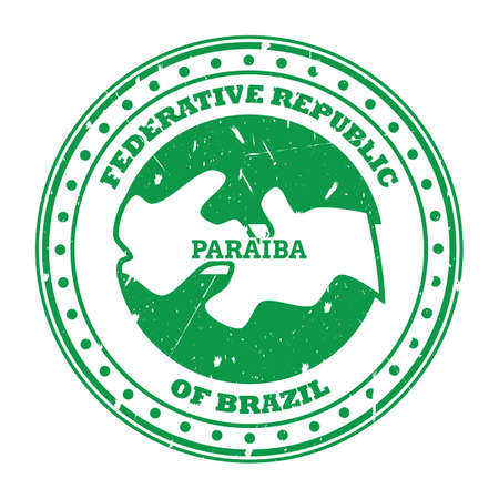 paraiba map stamp
