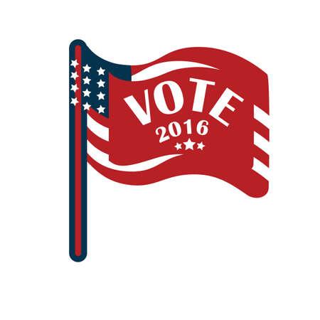 us election flag 스톡 콘텐츠 - 106667748