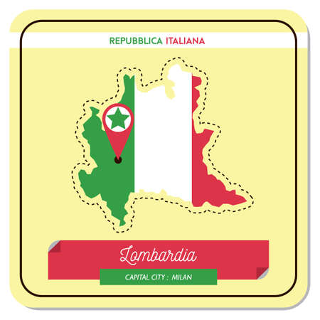 Lombardia map Иллюстрация