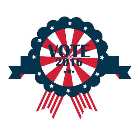 ons verkiezingsrozet Stock Illustratie