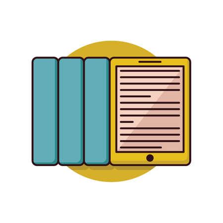 files and pad Illustration