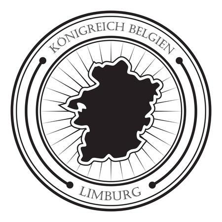 limburg: Limburg map label Illustration