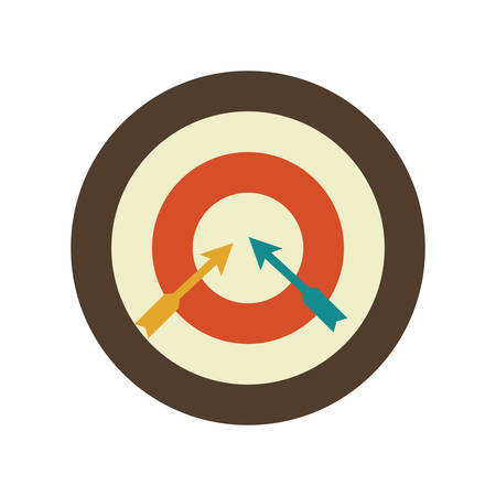 bull's eye: target Illustration