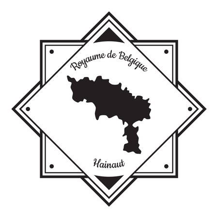하이노 (Hainaut)지도 라벨