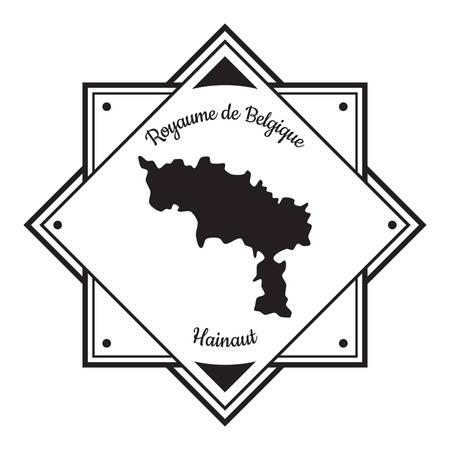 Hainaut map label