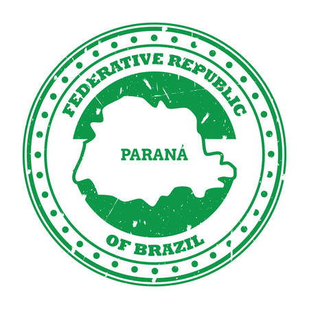 parana map stamp Ilustrace