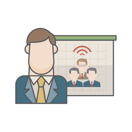 businessman and business communication Illustration