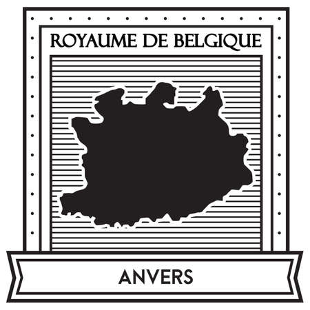 Anvers map Illustration