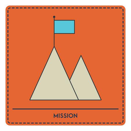 ミッションのコンセプト  イラスト・ベクター素材