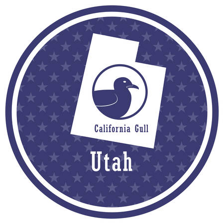 utah state map with california gull 向量圖像