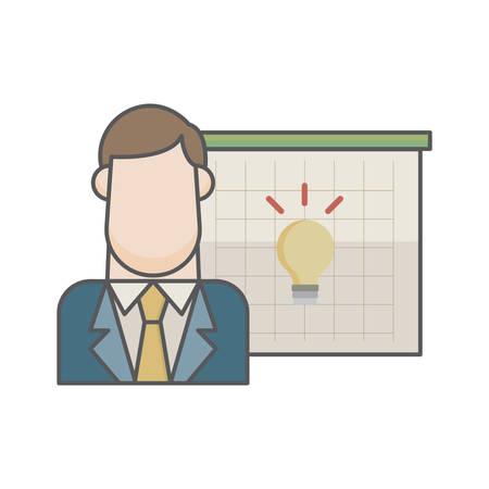 businessman and bulb