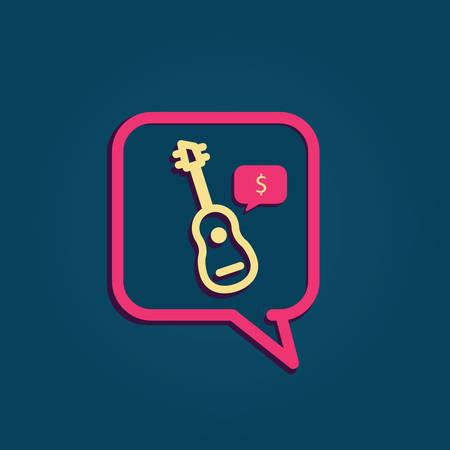Bulle avec guitare Banque d'images - 81484130