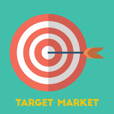 bull's eye: Target market concept Illustration