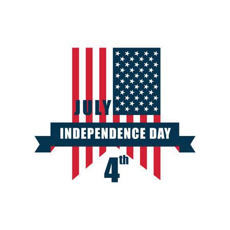 banderín del día de la independencia estadounidense Ilustración de vector