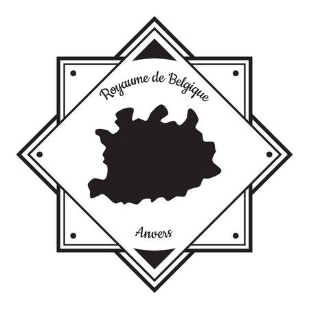 Anvers map label