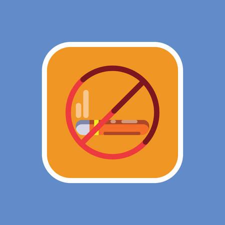 금연 표시 일러스트