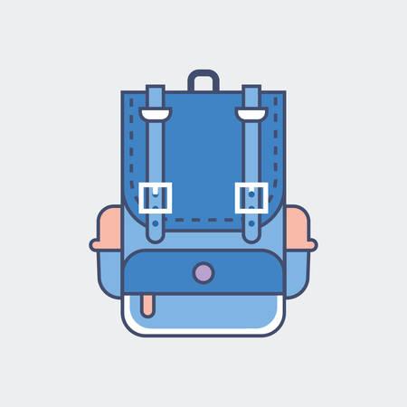 bookbag: A school bag illustration.